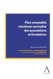 [PCMNASSO] Plan comptable minimum normalisé des associations et fondations